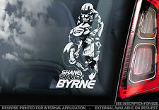 Shane 'Shakey' Byrne #67 - Superbike Car Window Sticker - BSB Motorbike Sign Art