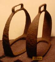 Rare Antique 1700's  RARE Dug Up Iron Rusty Saddle STIRRUPS 100% Authentic