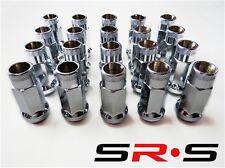 SRS 12X1.25 CHROME STEEL TUNER LUG NUT SET 20 FOR  SUBARU INFINITI G35 350Z