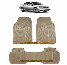 3PC ALL WEATHER BEIGE RUBBER FLOOR MATS SET for MITSUBISHI MONTERO