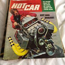 VINTAGE HOTCAR HOT CAR MAGAZINE AUGUST 1971 GET 1600 HORSES FIRENZA TEST