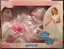 Barbie & Me Wedding Dress Up Set Costume Fits 3 to 6x