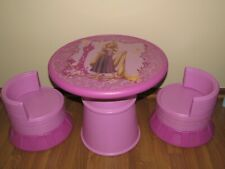 Children Kids GIRLS INDOOR PVC 2pc Round Chair Set and Round PLAY Table