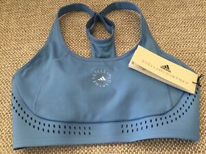 ADIDAS BY STELLA McCARTNEY TRUE PURPOSE SPORTS BRA, BLUE -SIZE 34B, RRP £55.00