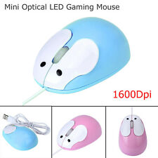Cute USB Wired 1600DPI Ergonomic Optical Mouse Mice For PC Laptop Computer