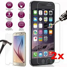 2X 9H Tempered Glass Screen Protector For Samsung S6 S7 iPhone 7Plus Huawei P9