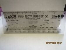 Minnesota Rubber Co. Quad Ring and O Ring Template