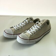 Converse Mens Chuck Taylor All Star Beige White Leather Size 12 E2818510
