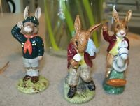 3 BUNNYKINS ROYAL DOULTON FIGURINES  ** BE PREPARED, COOLING OFF & TALLY-HO **