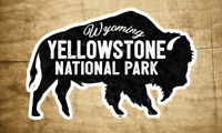 "Yellowstone National Park 3.75"" X 2.5"" Sticker Decal Wyoming Bison Vinyl"