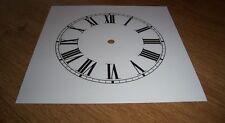 "Ogee Paper Clock Dial- 7 1/2"" M/T - Roman -  White Matt - Face/ Clock Parts"