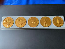 Very Rare Moscow 1980 Olympics Conmemorative Coins Torch Flame Misha Mascot Gold