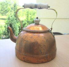 Vintage KUPFERKESSEL Teekessel Wasserkessel Kupfer+Messing Kessel Wasserkocher