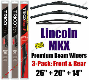 Wipers 3pk Premium Front Special Rear - fit 2007-2015 Lincoln MKX  19260/200/14D