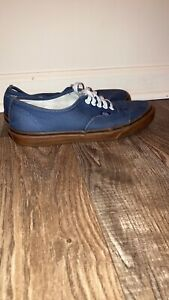 vans shoes mens 9.5, Blue And Brown, Used In Great Condition