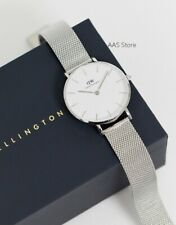 NEW Daniel Wellington Petite Sterling Watch Silver Bracelet 32 mm DW00100164