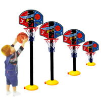 Kids Sports Portable Basketball Toy Set with Stand Ball & Pump Toddler Baby RX