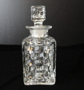 """Vintage Fostoria American Clear Glass 7 1/4""""  Cordial Bottle Decanter & Stopper"""