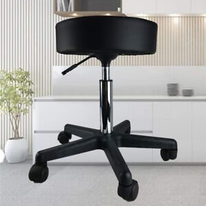 Salon Chair Bar Swivel Stool Office Roller Wheels Portable Height Adjust Leather