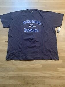 Baltimore Ravens NFL Majestic Purple Baltimore Ravens Team Logo 5XL T-Shirt