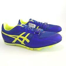 Asics Turbo Jump 2 Track Spikes Deep Blue/Flash Yellow Men'sSize 10.5 G505Y