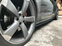 Step Diffusers for Audi A6 4G SIDE SKIRTS SIDESKIRTS - BLADE SILL COVERS