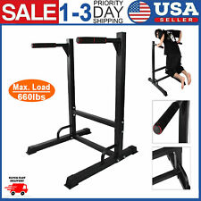 Dipping Station Dip Stand Pull Push Up Bar 660lbs Fitness Exercise Workout Gym