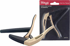 STAGG SCPX-FL Flat trigger STYLE capo for classical guitar Light Wood Finish