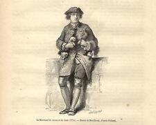 Stampa antica VENDITORE AMBULANTE DI CANI E GATTI 1869 Old antique print