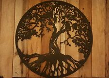 Tree of life Metal Wall Art Hanging Home Decor Rustic Primitive 14""