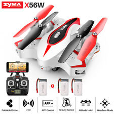 SYMA X56W Folding 2.4G RC Quadcopter WIFI FPV HD Camera Drone With 3 Batteries