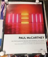 PAUL McCARTNEY ORIGINAL STORE PROMO POSTER OFFICIAL NEW 2013 THE BEATLES