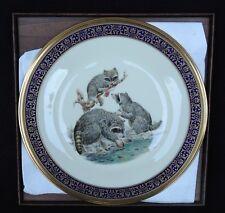 Lenox Boehm Raccoons Collector Plate Nib Dated 1973 Woodland Wildlife Series