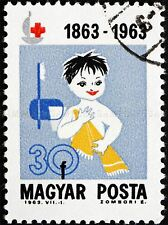 POSTAGE STAMP HUNGARY VINTAGE CHILD TOWEL TOOTHBRUSH ART PRINT POSTER BMP1595A