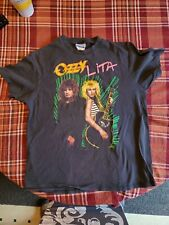 New ListingVintage Ozzy Osbourne Lita Ford Rock T Shirt L Concert Tee pre-owned 1989