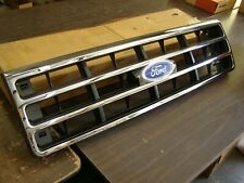 NOS OEM Ford 1987 1991 F150 Truck Chrome Grille 1988 1989 1990 Bronco - Damage