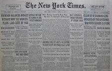 4-1931 APRIL 28 LEGS DIAMOND DYING. GOEBBELS ARRESTED, HITLER. POPE FASCISM