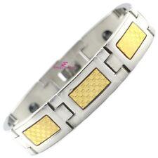 Chunky Gold Foil Magnetic Bracelet Power Bio Energy Arthritis Wristband