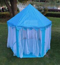 Kids Boys Girls Prince Castle Play Tent Princess Castle Tent X-Large Room Blue
