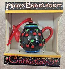 "Mary Engelbreit ""Cherry Orchard"" Tea Pot Collection Ornament w/Box 2""H"