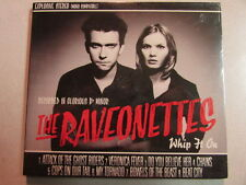 RAVONETTES WHIP IT ON 2002 SONY PROMO ADVANCE ALBUM SEALED CD DANISH INDIE ROCK