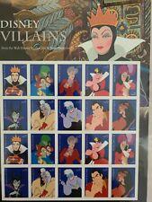 USPS Disney Villains Full Pane of 20 Forever Stamps, Scott #5222