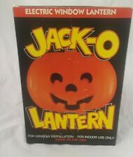 Jack-O Lantern Electric Window Lantern USA New Indoor Use