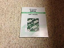 1991 Toyota MR2 Electrical Wiring Diagram Manual 2.0L 2.2L 4Cyl