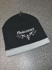 New Coors Light Beer Brewery Rare Limited Edition Black Beanie Hat Winter Cap