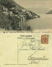 GG1281-LAGO DI COMO, RIVA DI NESSO, PER CUPRAMARITTIMA, 1905
