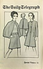 More details for 1960's vintage sewing pattern daily telegraph special pattern 83 coat cape skirt