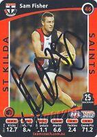 ✺Signed✺ 2012 ST KILDA SAINTS AFL Card SAM FISHER