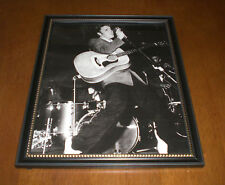 Elvis Presley On Stage Singing Framed B&W Print