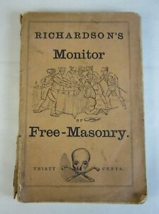 1860 Jabez Richardson's Monitor of Free-Masonry Book Masonic Signs & Oaths